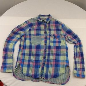L.O.G.G by H&M Button Down Flannel Size 4